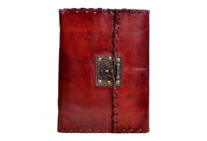 Genuine Handmade Simple Leather Journal Antique Lock Diary