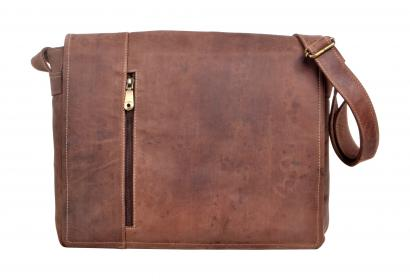 Men's Vintage Genuine Crazy Horse Real Leather Shoulder Bag Waist bag Purse