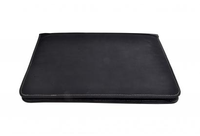 Buffalo leather document case holder with zip made in india