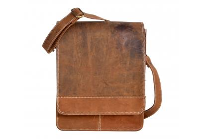 Men's Crazy horse Leather Shoulder Bag Briefcase Cross Body laptop bag