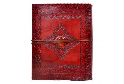 New Genuine Leather Journal Wholesaler Embossed Leather Journal Black Paper Journal Diary