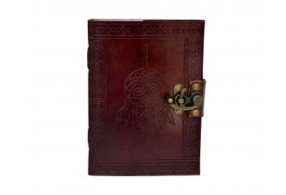 Celtic Brown Real Leather Dream Catcher Leather Embossed Journal Note Book