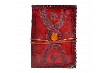 Single Stone Handmade Leather Journal Embossed Diary Handmade Notebook