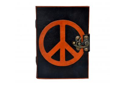 Celtic Handmade Leather Journal Note Book Blank Book Travel Book Orange With Black SHadow Book