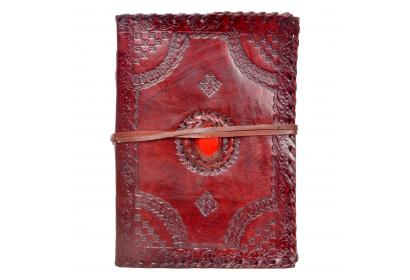 Genuine Vintage Handmade Leather Embossed Journal Diary