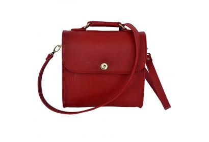 Handbag Shoulder Red Buffalo Leather Bag