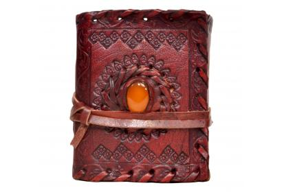 Genuine Handmade Leather Journal Wholesaler Single Stone Antique Design Handmade Diary