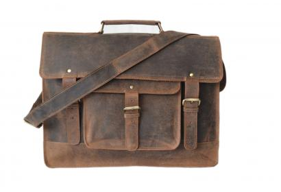 Mens Business Briefcase Crazy Horse Leather Shoulder Messenger Portfolio Bags