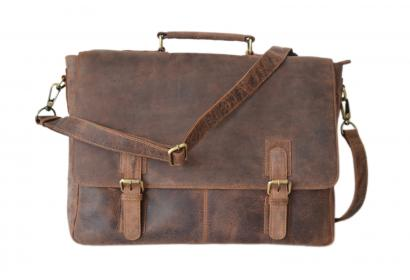 Crazy horse Leather Men's Briefcase Handbag Messenger  Cowboy Bag Laptop Bag