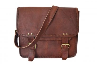 Cool Vintage Style Mens Briefcase High Quality Leather  Laptop Shoulder Bag