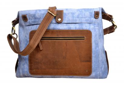 Mens Vintage Crazy Horse Canvas Leather Messenger Bag Shoulder Laptop Bag Briefcase Bag