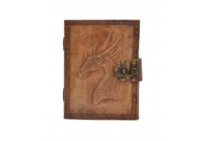 Handmade New Charcoal Color Leather Journal Unicorn Embossed Diary