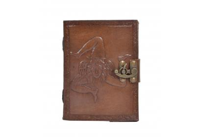 Handmade Charcoal Leather note book journal handmade book Embossed Note Book Diary