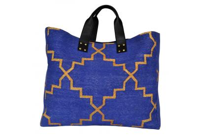 Crossbody Leather Purse Southwest Carpet Bag tote for girls Buffalo Leather Shopper Woman Kilim