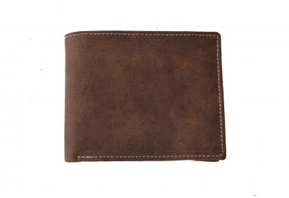 Crazy Horse Leather Purse for Boys