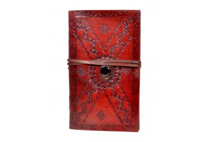 Leather Book Journal Handmade Leather Stone Brown Note Book Note Book