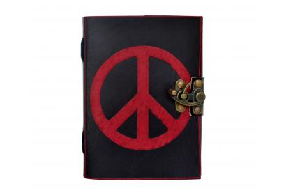 Sketchbook Notepad Peace Sign Shadow Handmade Leather Notebook Journal Diary