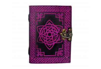Book Of Shadow Leather Celtic Book of Shadows Wicca Note Book Journal Brown Blank Spell Book
