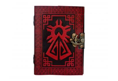 Blank Diary Notebook Shadow Book Celtic Handmade Leather Bound Journal Vintage
