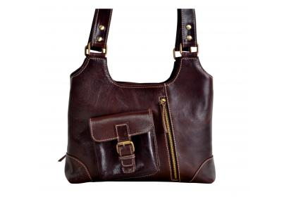 Women's Crazy Horse Leather Handbags Designer Purse Tote Shoulder Bags