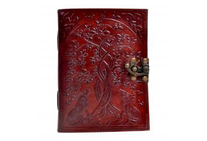 New Handmade leather journal wolf tree diary leather journal notebook