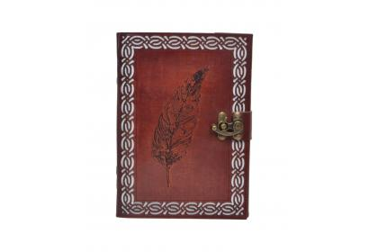 Antique New Tool Cut Work Handmade Animal Wing Design Leather Journal Notebook 120 Pages Blank Unlined Paper Notebook & Sketchbook