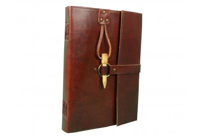 Celtic Classic Genuine Leather Notebook Wood Peg Closure Refillable Pages Leather Journal,Handmade Personalized