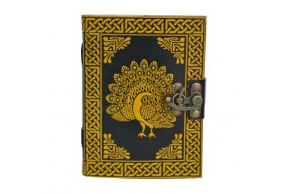HANDMADE LEATHER JOURNAL PEACOCK OF LIFE DIARY NOTEBOOK ACID FREE PAPER 120 Pages