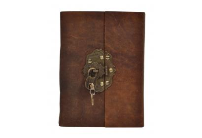 Hardcover New Brass Lock Blank Paper Leather Journal New Diary Handmade Sketchbook