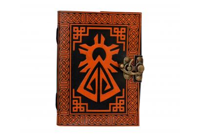 Quality Shadow Handmade Leather Refillable Journal Celtic Bound Diary Emboss Sketchbook Travel Blank Book Christmas gifts
