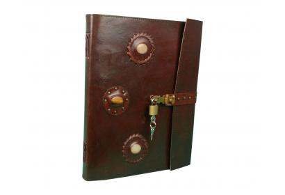 Three Stone Handmade  Fully functional key-operated lock will ensure that your privacy is Journals Note Book Secrate Book