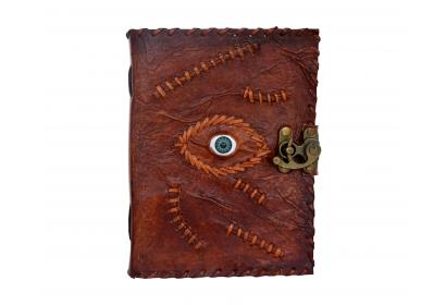Handmade Brown Leather Journal Note Book Eye 120 Handmade Paper Dairy