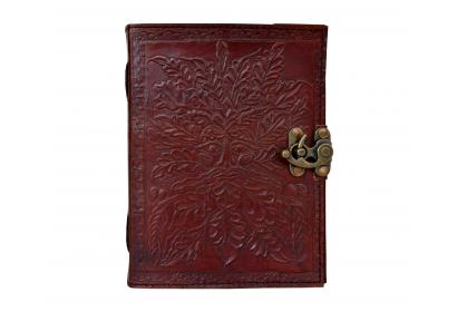 Handmade Paper Embossed Leather Journal Greenman Eco Friendly Sketchbook