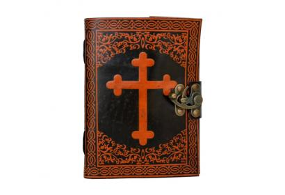 Pinnacle Handmade Celtic Cross Embossed Vintage Leather Blank Book Travel Notebook Diary Journal