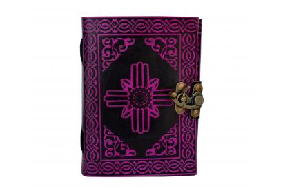 Pink Color of Shadow Handmade Leather Journal Blank Book Note Book Travel Book Dairy
