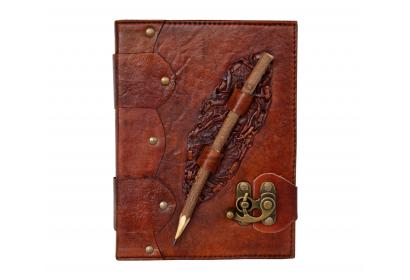 Antique Dark Brown Leather Journal Diary