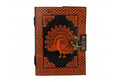 HANDMADE LEATHER SMALL PEACOCK JOURNAL NOTEBOOK SKETCHBOOK NOTEPAD PERFECT FOR GIFT SOLUTION