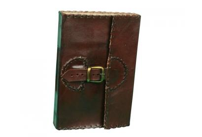 Made in India Beautiful Brass Buckle On Strap Hand Made Paper Leather Journals 120 paper Dairy Note Book