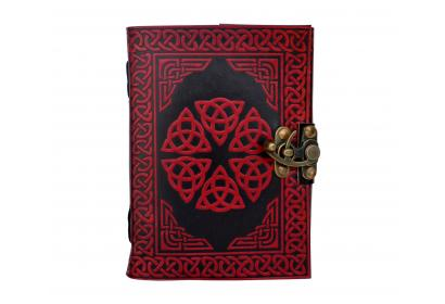 Celtic Book Of Shadow Hamsha Design Red Color Travel Book Journal Sketch Book