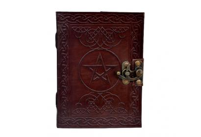 Vintage Look Distressed Leather Journal Celtic Pentacle Journal Sketchbook Diary Brown Christmas gifts