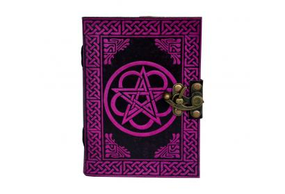 Vintage Look Distressed Leather Journal Embossed Pentacle Journal Sketchbook Shadow Diary Christmas gifts