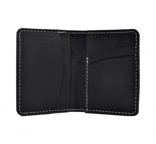New Simple Buffalo Leather Genuine Id/Credit Card Holder Wallet