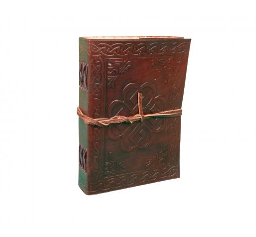 Embossed  Celtic Knot Leather Journal Refillable Handmade Vintage Travel Journal Diary Brown Genuine Leather Journal Notebook
