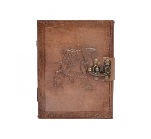 New Charcoal Colour Genuine Handmade Camel Embossed Vintages Blank Paper Notebook Leather Journal Diary