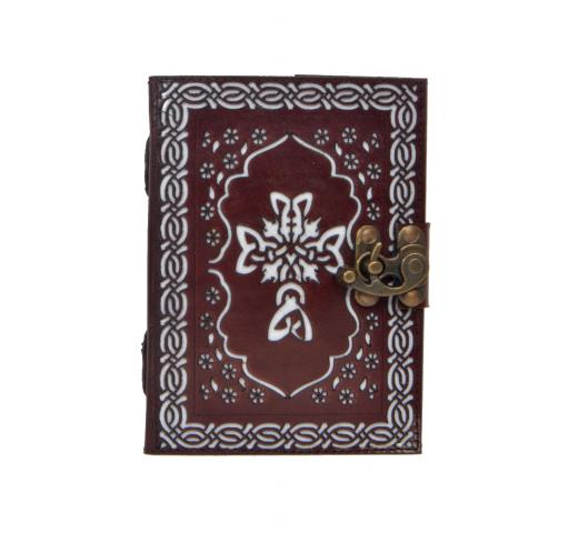 Celtic Hand-tool Cutting Leather Journal Cross Design Notebook 120 Pages Expensive Day Planner Notebook