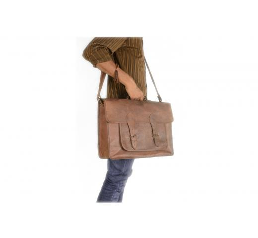 Vintage Leather Satchel Laptop bag