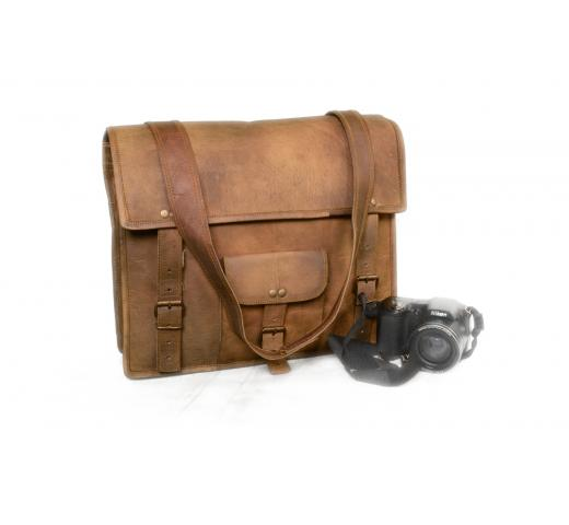 Leather Vintage Backpack Rucksack Bag