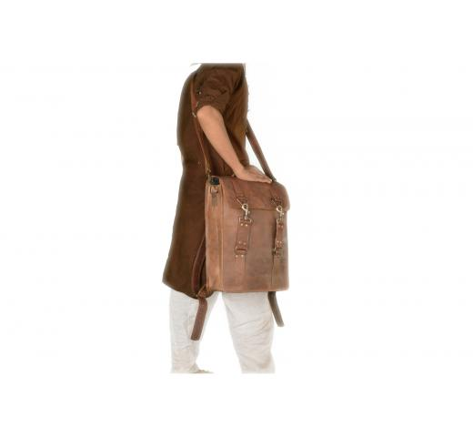 Leather Backpack Rucksack Travel Bags