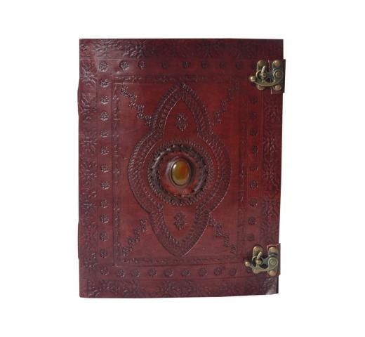 Vintage Classic Retro Leather Journal Travel Notepad Notebook Blank Brown Diary