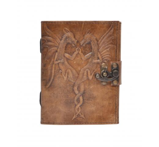 New Vintage Handmade Double Dragon Embossed Vintages Blank Paper Notebook Leather Journal Diary & Sketchbook